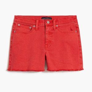 J. Crew red denim shorts